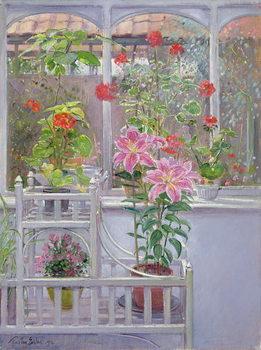 Lerretsbilde Through the Conservatory Window, 1992