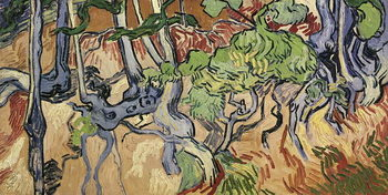 Lerretsbilde Tree roots, 1890