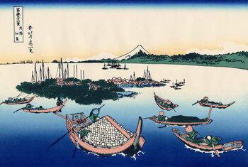 Lerretsbilde Tsukada Island in the Musashi province