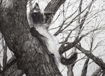 Lerretsbilde Up the apple tree, 2006,