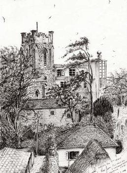 Lerretsbilde View from St Catherines school Ventnor I.O.W., 2011,