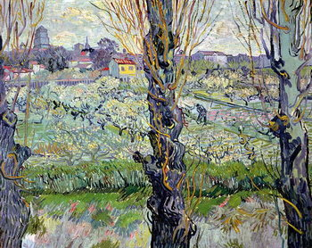 Lerretsbilde View of Arles, 1889