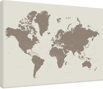 World Map - Contemporary Stone Lerretsbilde