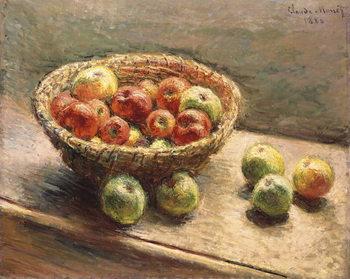 A Bowl of Apples; Le Panier de Pommes, 1880 Lerretsbilde