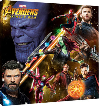 Avengers Infinity War - Space Montage Lerretsbilde