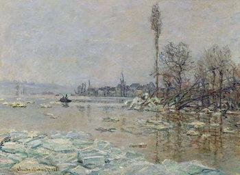 Breakup of Ice, 1880 Lerretsbilde