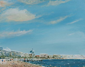 Cannes Sea Front, 2014, Lerretsbilde
