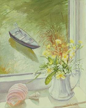 First Flowers and Shells Lerretsbilde