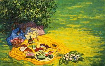 Golden Picnic, 1986 Lerretsbilde