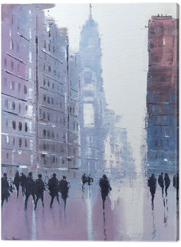 Jon Barker - Manhattan Reflections Lerretsbilde