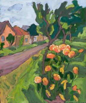 Neighbour's Roses, 2008 Lerretsbilde
