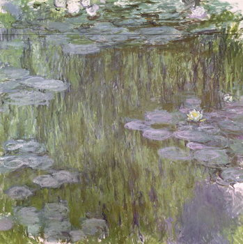 Nympheas at Giverny, 1918 Lerretsbilde