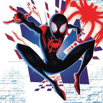 Spider-Man Into The Spider-Verse - Buildings Lerretsbilde