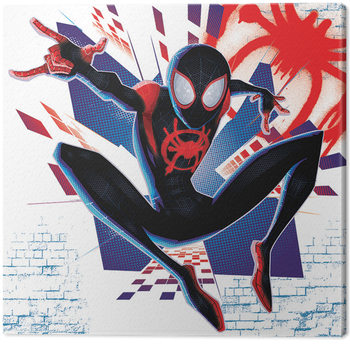 Spider-Man Into The Spider-Verse - Buildings Lerretsbilde