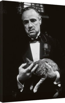 The Godfather - cat (Zwart Wit) Lerretsbilde