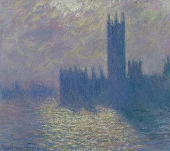 The Houses of Parliament, Stormy Sky, 1904 Lerretsbilde