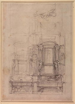 W.26r Design for the Medici Chapel in the church of San Lorenzo, Florence Lerretsbilde