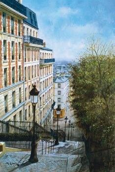 Les Etapes De Montmartre Festmény reprodukció
