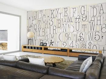 Ταπετσαρία τοιχογραφία  Letters
