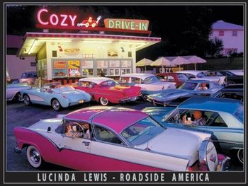 Lewis - Cozy Drive In Metalen Wandplaat