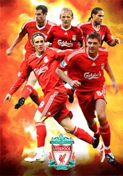 LIVERPOOL - players 09/10 3D - плакат (poster)