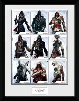 Assassins Creed - Compilation Characters Poster Incorniciato