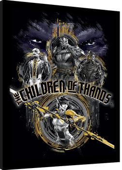 Avengers Infinity War - Children of Thanos Stencil Poster Incorniciato