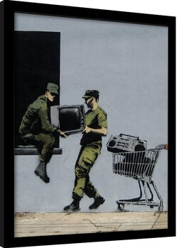 Poster incorniciato Banksy - Looters Masters