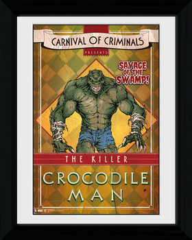 Batman Comic - Circus Crocodile locandine Film in Plexiglass