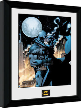 Batman Comic - Moonlit Kiss Poster Incorniciato
