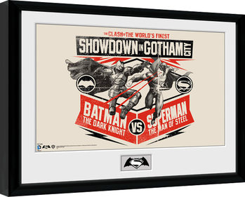 Batman Vs Superman - Battle Poster Incorniciato