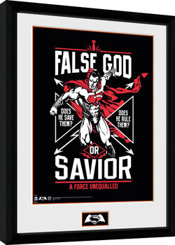 Batman Vs Superman - False God Poster Incorniciato