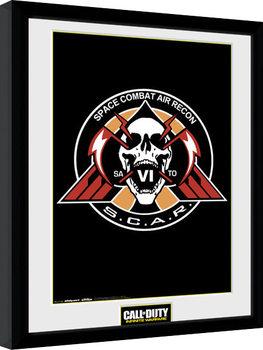 Call of Duty Infinite Warfare - Scar Logo Poster Incorniciato