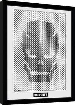 Call Of Duty - Skull Pattern Poster Incorniciato