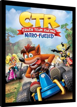 Crash Team Racing - Race Poster Incorniciato