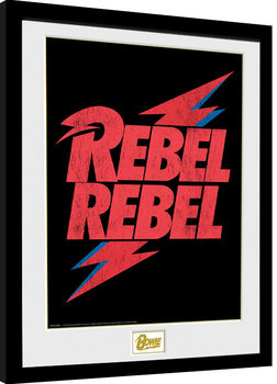 David Bowie - Rebel Rebel Logo Poster Incorniciato