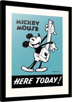 Poster incorniciato Disney - Mickey Mouse - Here Today!
