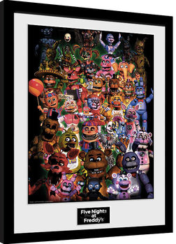 Five Nights At Freddy's - Ultimate Group Poster Incorniciato