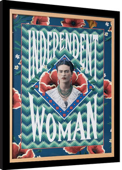 Frida Kahlo - Independent Woman Poster Incorniciato