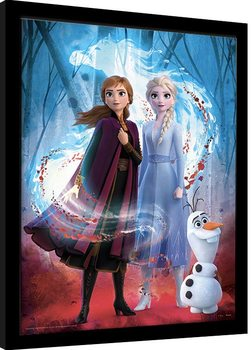 Poster incorniciato Frozen: Il regno di ghiaccio 2 - Guiding Spirit