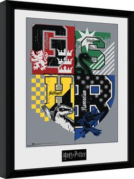 Harry Potter - Letter Crests Poster Incorniciato