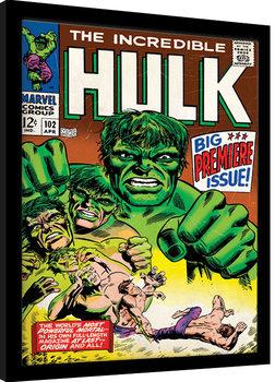 Poster incorniciato Hulk - Comic Cover
