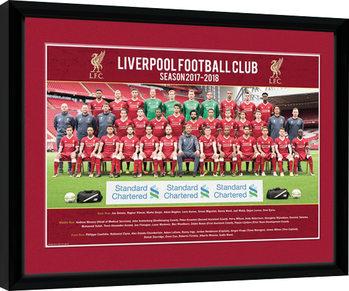 Liverpool - Team Photo 17/18 Poster Incorniciato