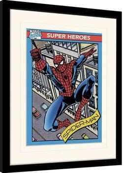 Poster incorniciato Marvel Comics - Spider-Man Trading Card