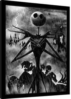Poster incorniciato Nightmare Before Christmas - Jack Storm