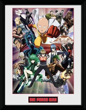 Poster incorniciato One Punch Man - Key Art