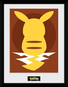 Poster incorniciato Pokemon - Pikachu Silho 25