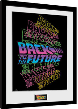 Ritorno al futuro - Neon Poster Incorniciato