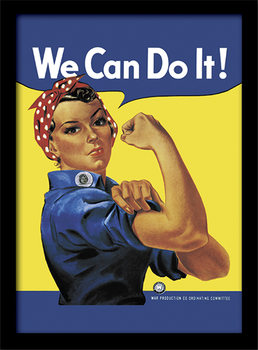 Rosie the Riveter Poster Incorniciato