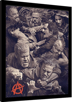 Sons of Anarchy - Fight Poster Incorniciato